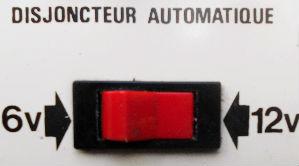 Disjoncteur du chargeur