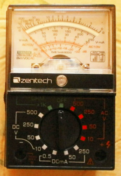 Mini multimètre analogique