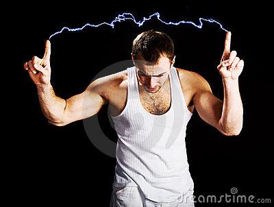 Corps traversé par l`électricité